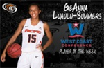 Luaulu-Summers Named WCC Player of the Week