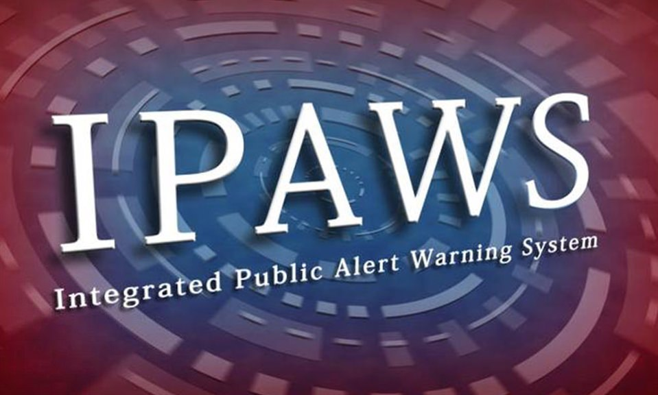 Integrated Public Alert And Warning System (IPAWS) National Test Scheduled For September 20, 2018
