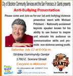 Michael Pritchard puts on Anti-Bullying Presentation at Stribley Community Center